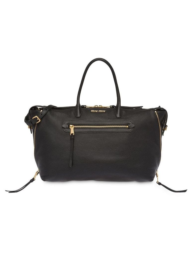 Miu Miu grained tote bag - Black