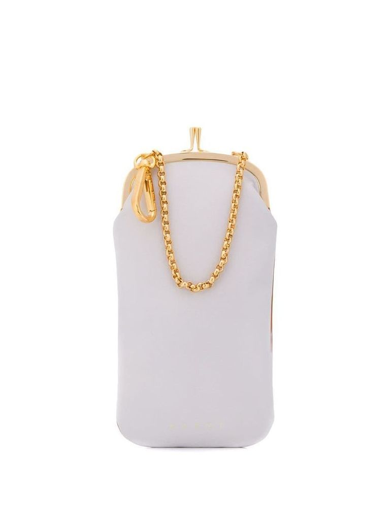 Marni colour-block mini bag - Brown