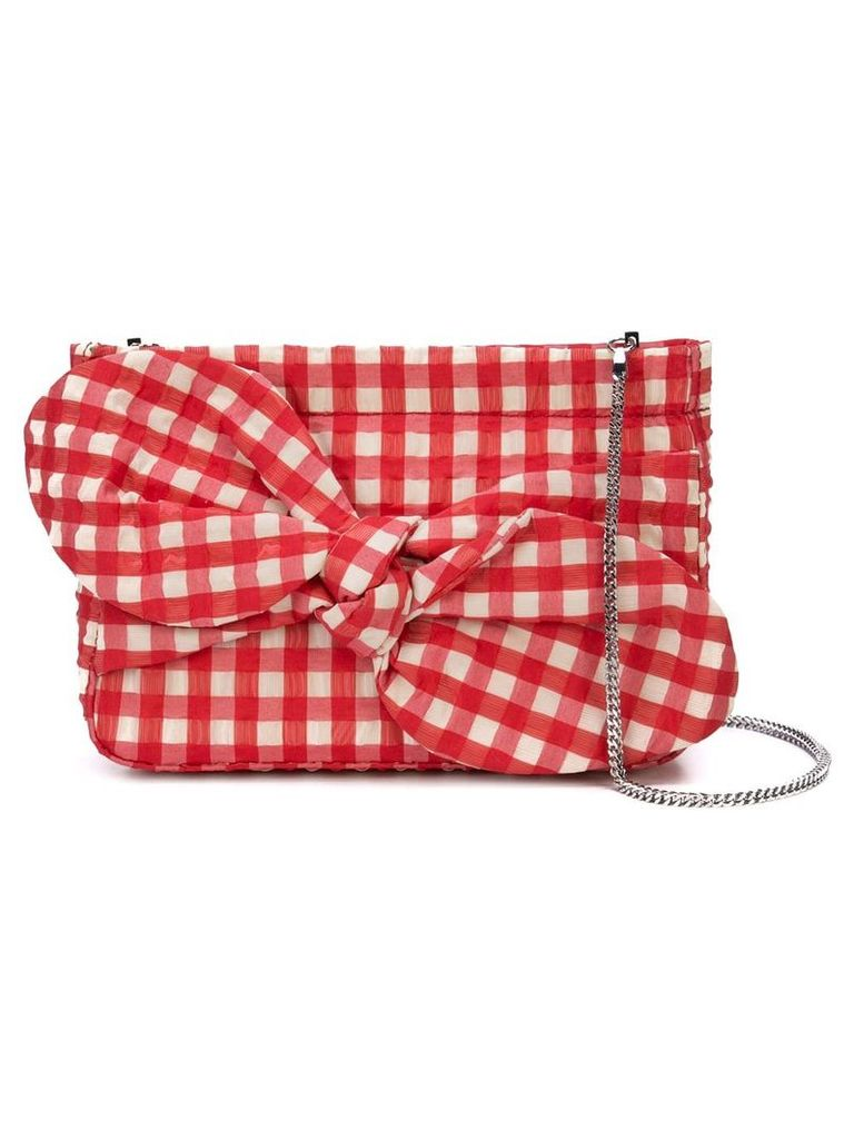 Loeffler Randall Cecily bow cutch bag - Red