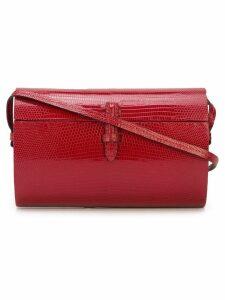 Hunting Season oval lizard effect shoulder bag - Red
