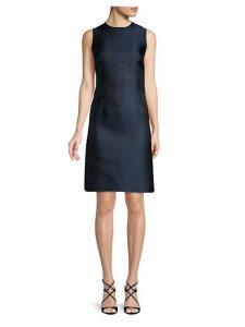 Sleeveless Jewelneck Sheath Dress