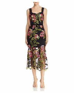 Bronx And Banco Cordelia Floral-Embroidered Dress