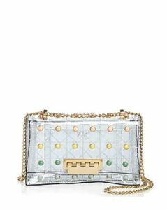 Zac Zac Posen Earthette Pearl Lady Clear Convertible Shoulder Bag