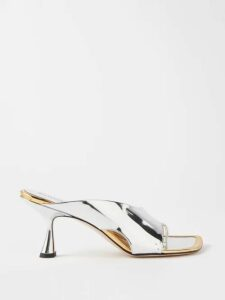 Gucci - Flower And Tassel Print Pleated Silk Midi Skirt - Womens - Red Multi