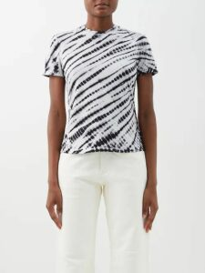 Preen By Thornton Bregazzi - Greta Floral Print Puff Sleeve Satin Dress - Womens - Ivory