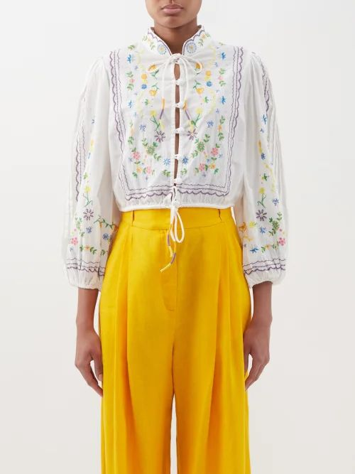 Stella Mccartney - Herringbone Oversized Single Breasted Blazer - Womens - Khaki