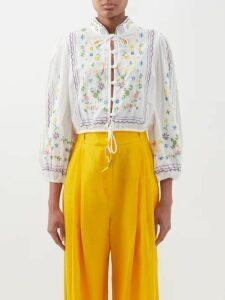 Stella Mccartney - Herringbone Oversized Single Breasted Blazer - Womens - Khaki