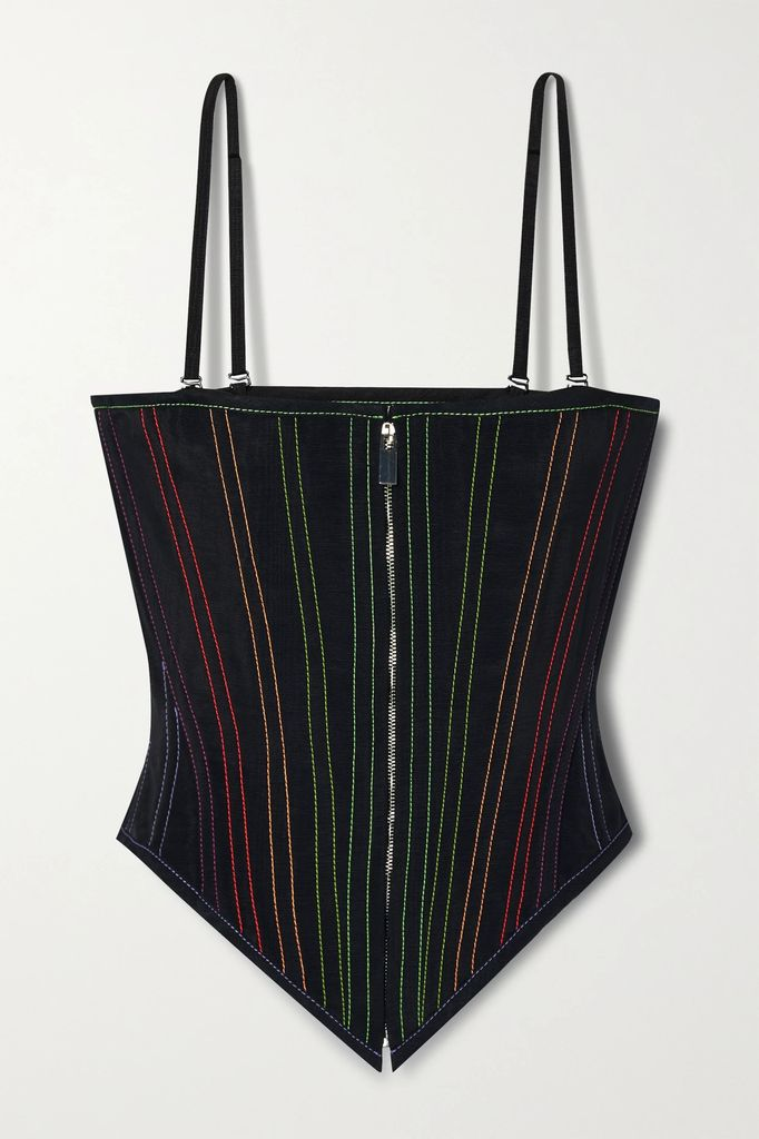 Gu de - Edie Croc-effect Leather Shoulder Bag - Gray