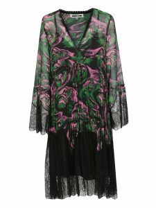 Mcq Alexander Mcqueen Wave Print Dress