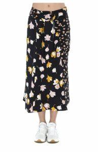 Self-portrait Floral Skirt