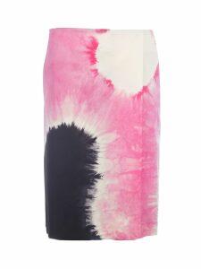 Prada Tie-dye Wrap Skirt