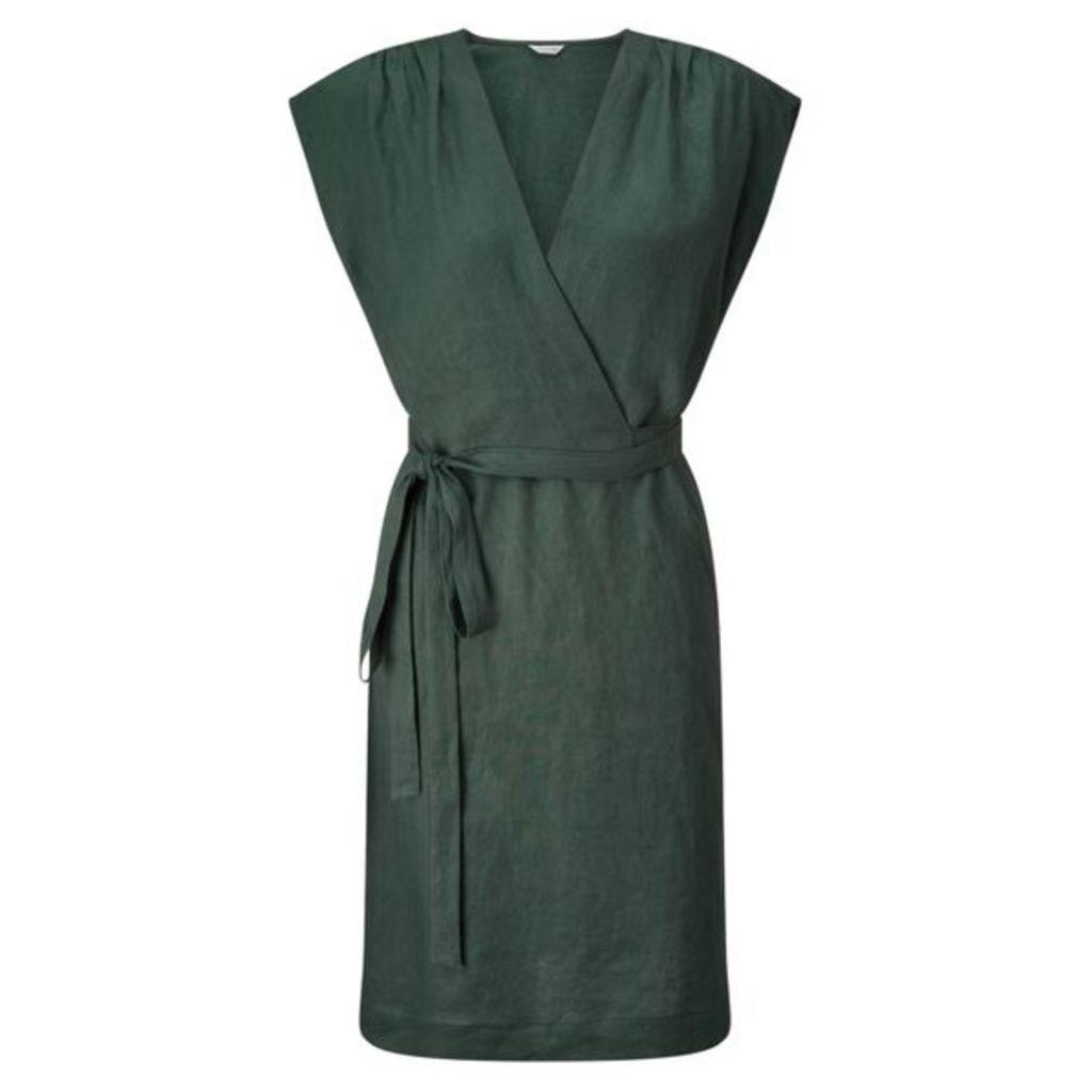 Jigsaw Wrap Linen Dress