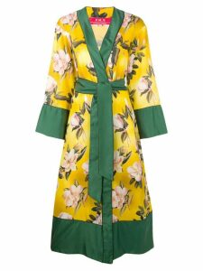 F.R.S For Restless Sleepers floral print robe coat - Yellow