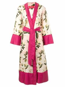 F.R.S For Restless Sleepers floral print robe coat - Pink