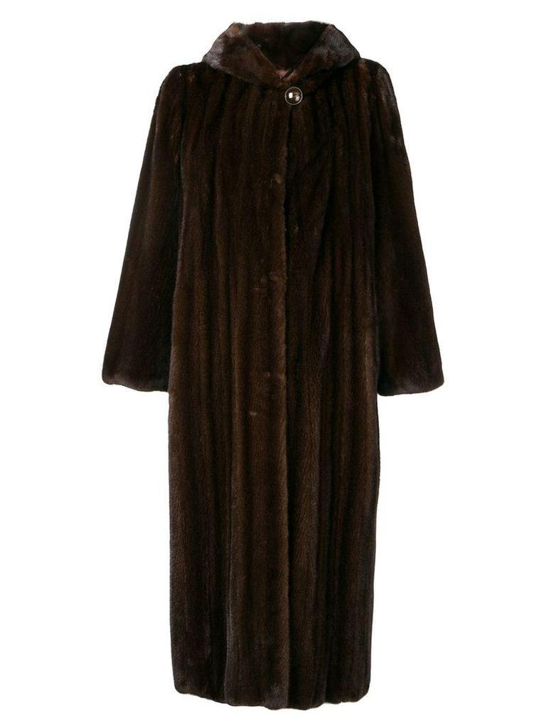 Liska long ribbed coat - Brown
