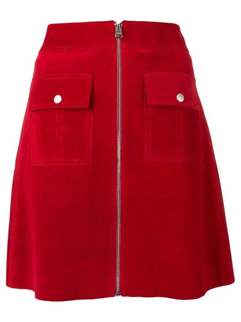 YMC zipped A-line skirt - Red