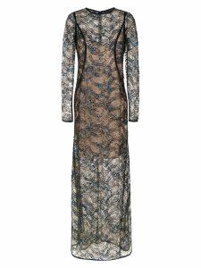Tufi Duek sequin long dress - Blue