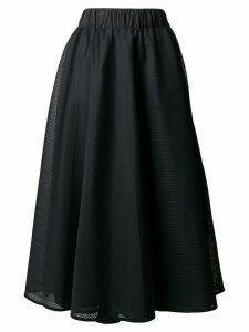 No Ka' Oi side stripe mesh skirt - Black