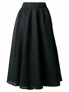 No Ka' Oi side stripe mesh skirt - Black