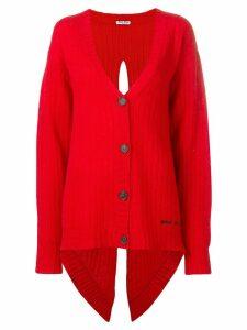 Miu Miu back slit cardigan - Red