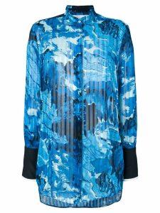 Victoria Victoria Beckham oversized printed shirt - Blue