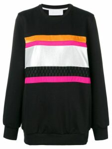 No Ka' Oi front stripe inserts sweatshirt - Black