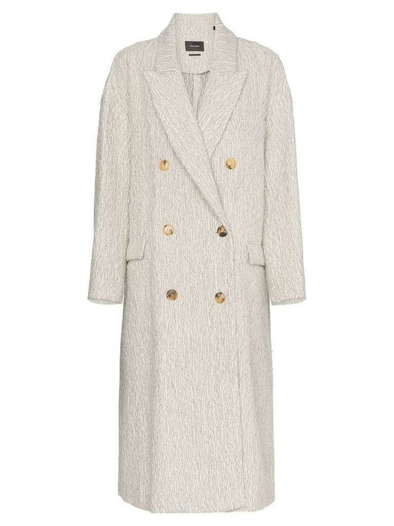 Isabel Marant Habra alpaca wool double-breasted coat - Neutrals