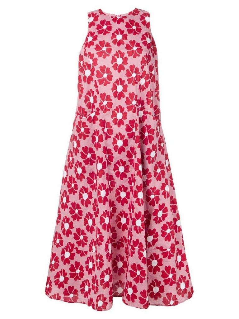 YMC floral print midi dress - Pink