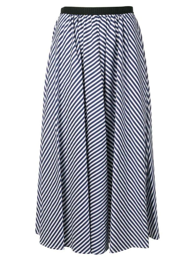 Antonio Marras striped flared midi skirt - Blue