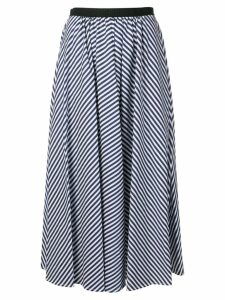 Antonio Marras striped flared midi skirt - Blue