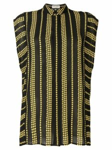 Saint Laurent Stars and Stripes printed sleeveless shirt - Black
