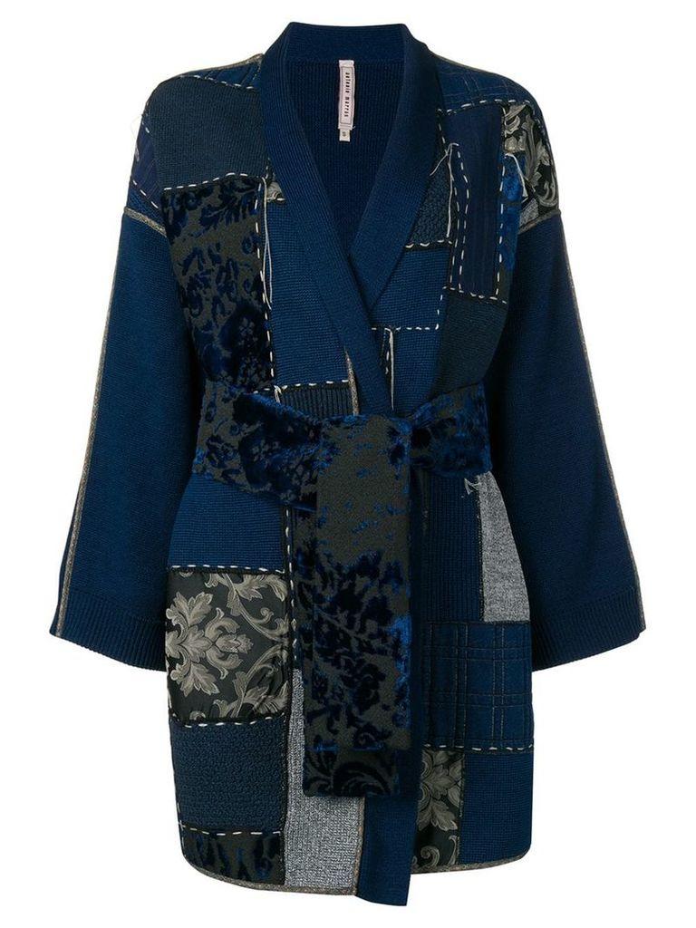 Antonio Marras patch-work fitted coat - Black