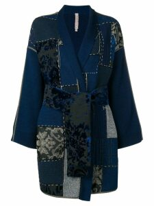 Antonio Marras patch-work fitted coat - Black