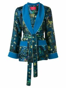 F.R.S For Restless Sleepers floral waist-tied blazer - Blue