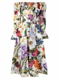 Dolce & Gabbana floral print dress - White