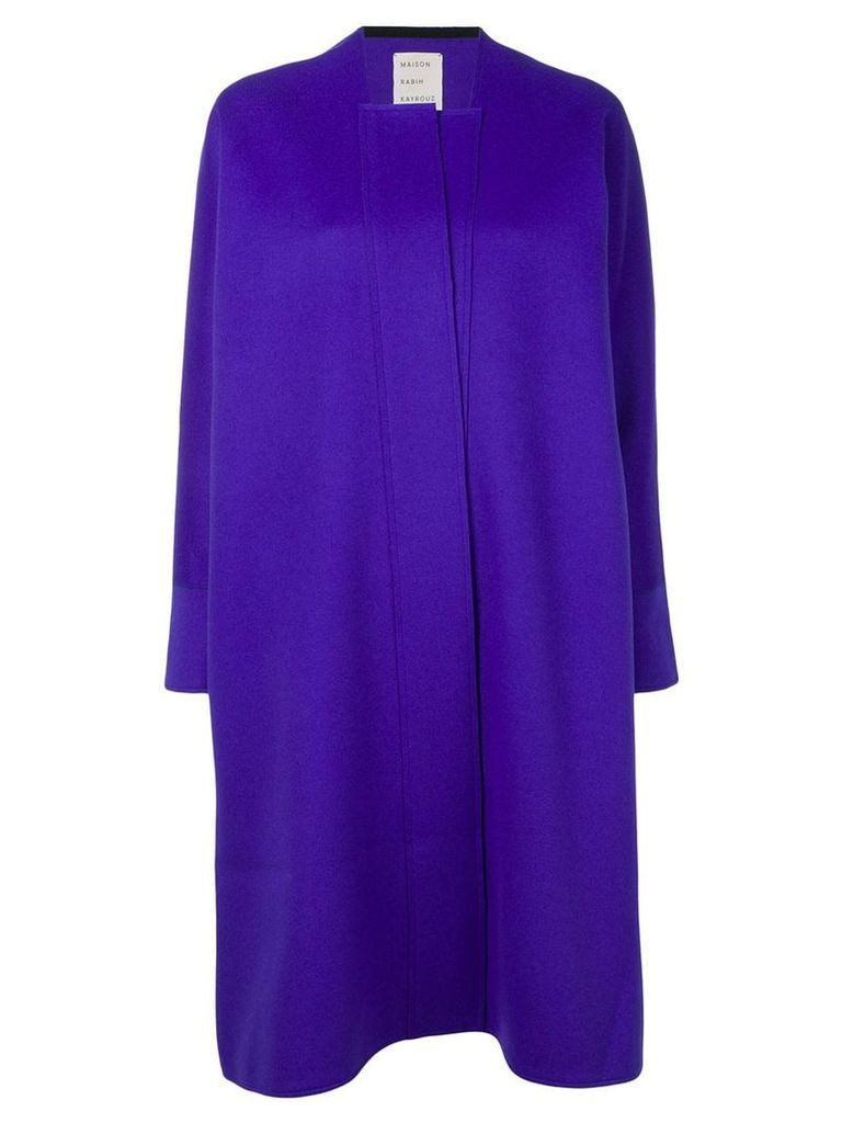 Maison Rabih Kayrouz oversized single-breasted coat - Purple