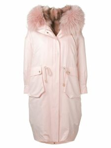 Liska fur trimmed coat - Pink
