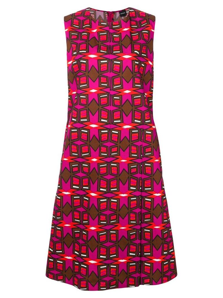 Aspesi printed shift dress - Pink