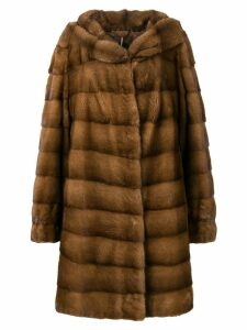 Liska Ari trmmed coat - Brown