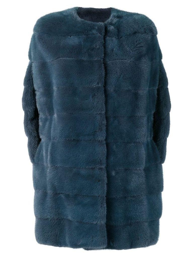 Liska classic midi coat - Blue