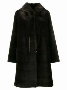 Liska Dawsini fur coat - Brown