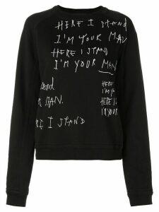 Haider Ackermann I'm Your Man sweatshirt - Black