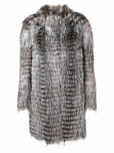 Liska fur trimmed coat - Grey