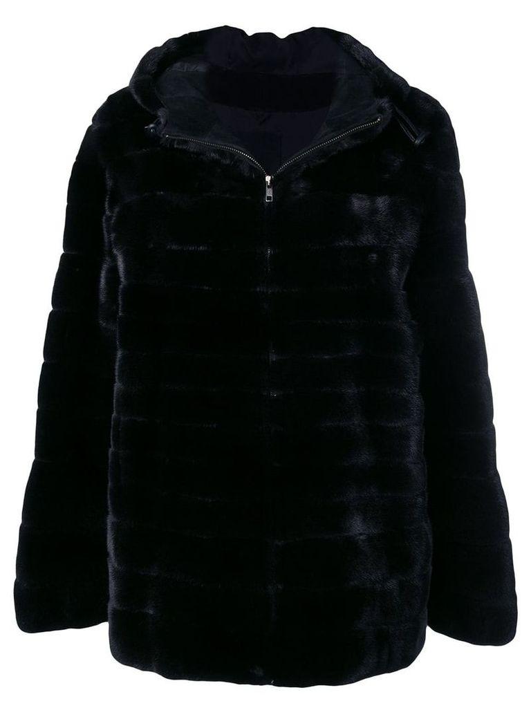 Liska Vanillia trimmed coat - Black