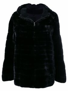 Liska Vanillia trimmed coat - Black
