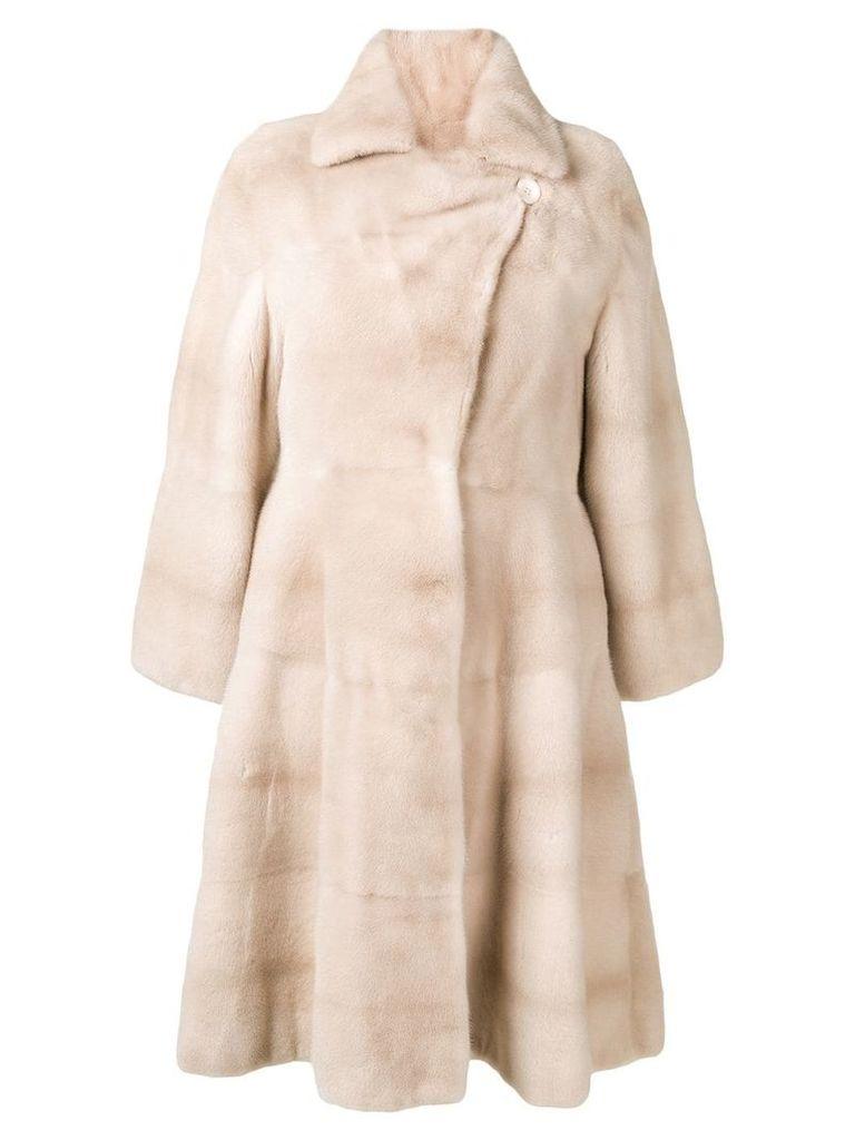 Liska Marscha trimmed coat - White