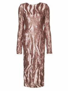 Rachel Gilbert Dinah sequined dress - Metallic