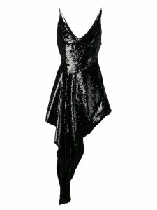 16Arlington sequined asymmetric dress - Black