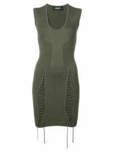 Dsquared2 drawcord detailed mini dress - Green