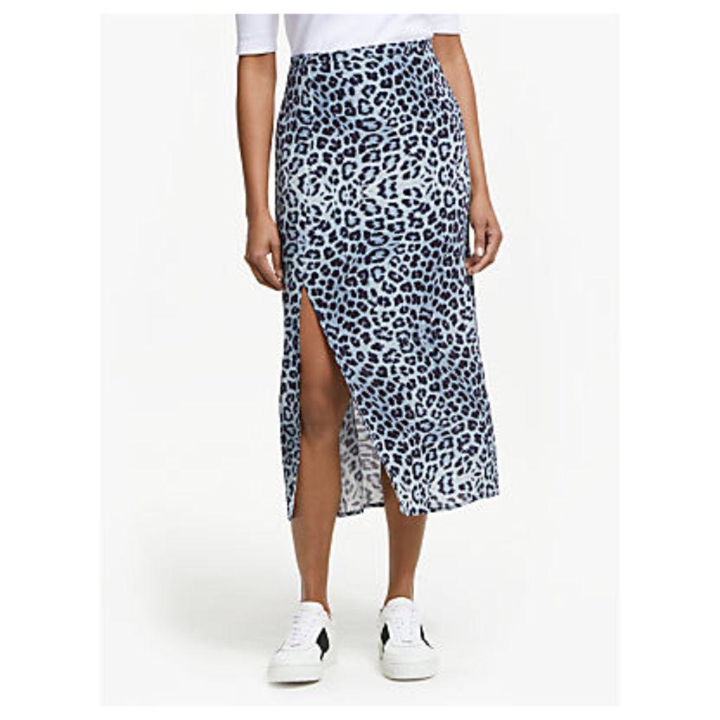Lily and Lionel Grace Animal Print Skirt, Safari Denim